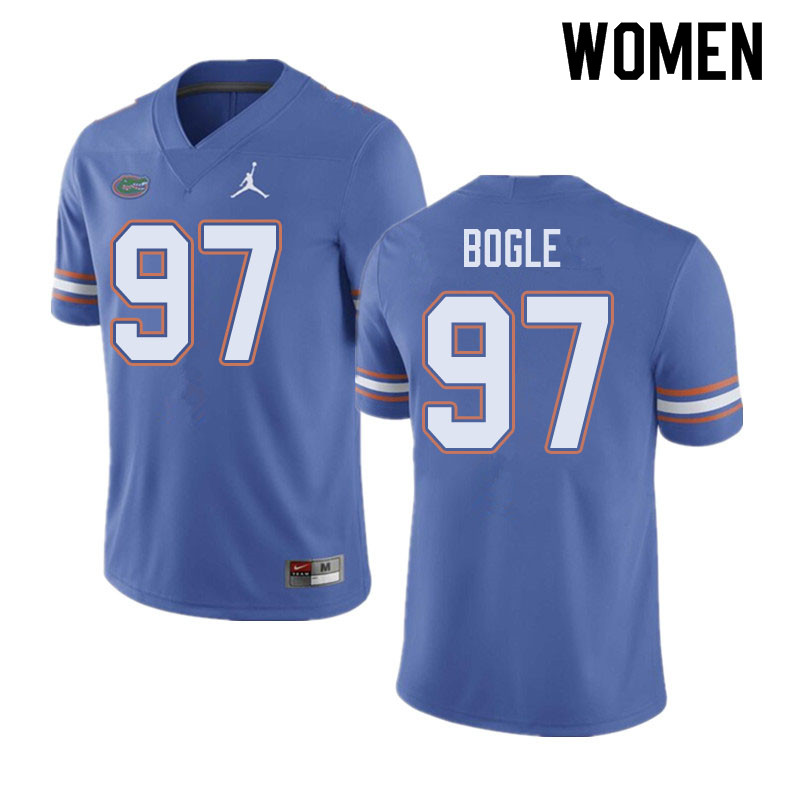 Jordan Brand Women #97 Khris Bogle Florida Gators College Football Jerseys Sale-Blue